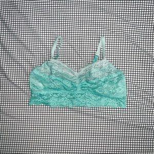 VS PINK Aqua Ombre Lace Bralette